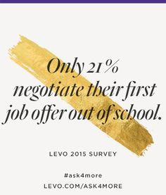 #ask4more with @levoleague: https://www.levo.com/ask4more