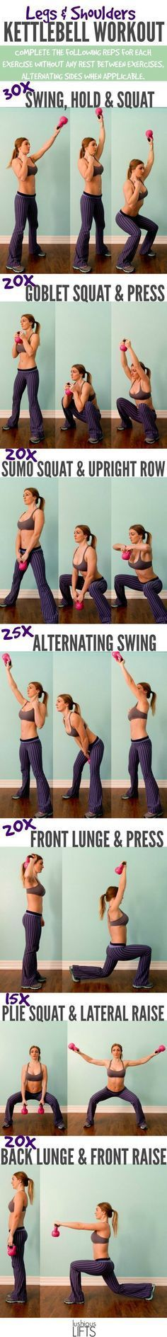 Legs and Shoulders Kettlebell Workout | Posted By: NewHowToLoseBellyFat.com #ShoulderWorkout