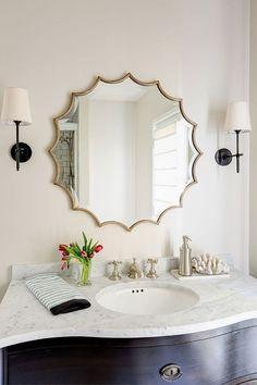 Bathroom Mirror With Silver Frame   Hangs Vertically Or Horizontally Modern Bathroom  Bathroom Vanity Bathroom Lighting
