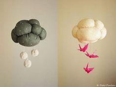 Movil con nube para habitación de bebes