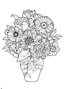 flower vase design coloring pages   free printable coloring image Flower Coloring Pages 24 ...