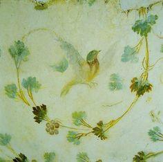 Bird fresco from the Stanza dei Geni, from the Case Romane del Celio beneath the Ss. Giovanni and Paolo, Rome.