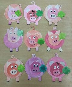 15 Baby Animal Days / Farm Crafts for Kids Pig Crafts, Farm Crafts, New Year's Crafts, Animal Crafts, Summer Crafts, Arts And Crafts, Paper Crafts, Projects For Kids, Crafts For Kids