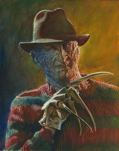 Only one who should wear a FADORA is Freddy Krueger. This is what I see when I see people in a Fadora. Freddy Krueger, Horror Icons, Horror Films, Horror Art, Robert Englund, Freddy Horror, Ohio, Horror Fiction, Horror Movie Characters