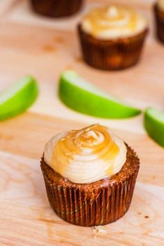 Apple Spice Cupcakes with Salted Caramel Frosting