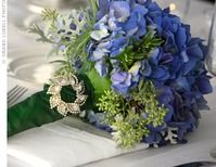 Deep Blue Hydrangeas are so classic and romantic. Love them!