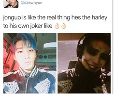 Jongup is the Harley to his own Joker  | B.A.P