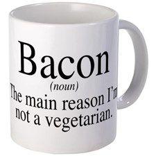 Bacon Black Small Mug