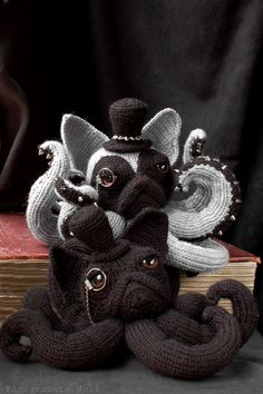 Crochet Octodogs Based On Different Dog Breeds.   Combining two of my favorite things! Who knew?