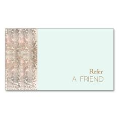 Faux sequins beauty salon referral card white double sided standard faux sequins beauty salon referral card white double sided standard business cards pack of 100 this great business card design is available for colourmoves