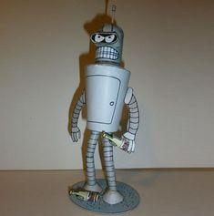 PAPERMAU: Futurama - Bender The Robot Paper Model - by Pedro Seidel