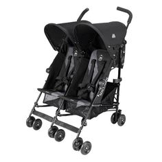 Maclaren Twin Triumph #Double #Stroller The Maclaren Twin Triumph is easy to fold and steer double stroller. The stroller is made of high quality, lightweight alloy that makes it durable and easy to carry. The duo seats are #comfortable and can be adjusted to any position.