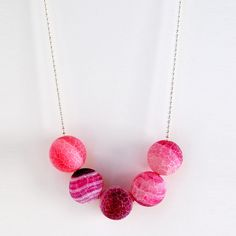 Frosted Pink Necklace