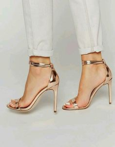 shoes gold and heels image