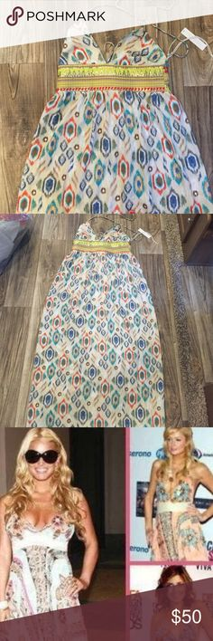 Tricia fix maxi dress It's hard to get all in one picture buts it's a to the floor full length maxi dress new with tags never worn Dresses Maxi
