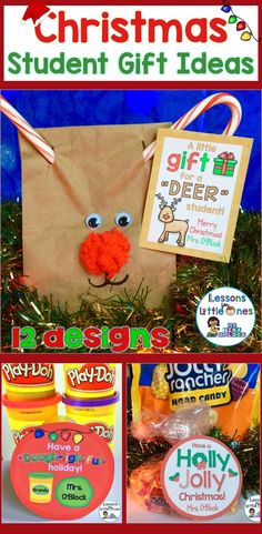 Christmas student gift ideas along with 12 different designs for Christmas student gift tags. Easily create memorable gifts this holiday!