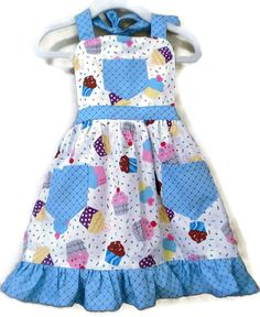 Retro Style Apron Children's Apron Toddler by KelleenKreations