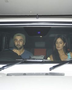 Ranbir Kapoor and Katrina Kaif arrived in style for the screening of the Akshay Kumar - Sidharth Malhotra movie 'Brothers'. The hot couple were friendly with the media collected there. They said that they loved the movie and congratulated Akshay, Sidharth and the team.
