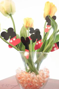 Mickey Mouse Numbers Cupcake Toppers (set 12). $13.50, via Etsy.