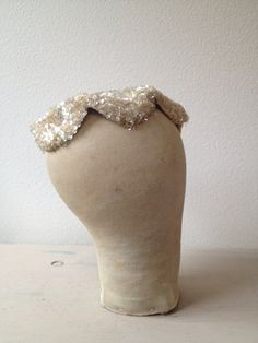 1950s hat / holiday sparkle hat / Pretty Please by nocarnations