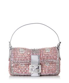 Pink+leather+embellished+small+flap+bag+by+Fendi+on+secretsales.com