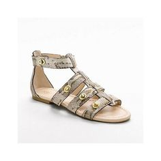 Coach Oleta Python Sandal found on Polyvore. These sandals are a must for summer!