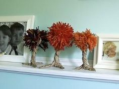 Autumn lunch bag trees. by katee