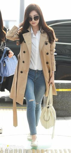 How to wear fall fashion outfits with casual style trends Snsd Airport Fashion, Snsd Fashion, Asian Fashion, Fashion Outfits, Kpop Outfits, Mode Outfits, Korean Outfits, Casual Outfits, Women's Casual
