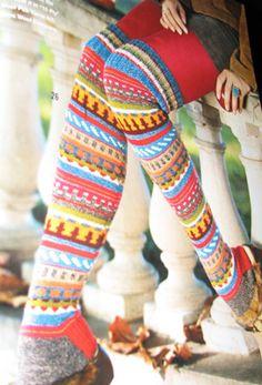 Crazy Fair Isle Socks