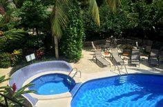 Aerial view of pool and Jacuzzi Hotel Costa Coral, Tambor, Costa Rica #fun #vacation #family