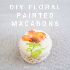 Thirty Day Dash | DIY Wedding and Day-of Wedding Services | DIY Floral Painted Macarons