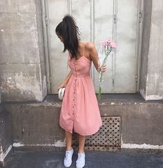 sahar luna, dress, and flowers image