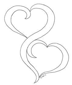 Oak pond digis, two hearts. Could this be converted to continuous stitching pattern? Embroidery Hearts, Hand Embroidery, Machine Embroidery, Applique Patterns, Quilt Patterns, Quilting Designs, Embroidery Designs, Coloring Books, Coloring Pages