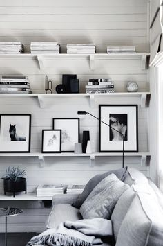 Use gray, black and white tones in interior design to create a calm expression