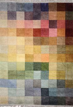 Prisma handknuten ull - multifärgad från Falsterbo hos ConfidentLiving.se