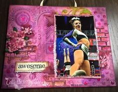 Playing with new chipboard and altering flowers.  Why do girls love pink so much?