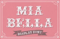 http://Once in a while there are fonts that make you say WOW! out loud. Mia Bella is one of those fonts. Mia Bella is the perfect romantic and sweet font that can be used for so many purposes. Imagine this beautiful font on a wedding invite or thank you card. Or how about a beautiful […]