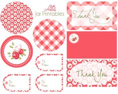 Free Jar Set Printables