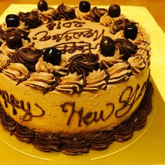 Happy new year cake mocha