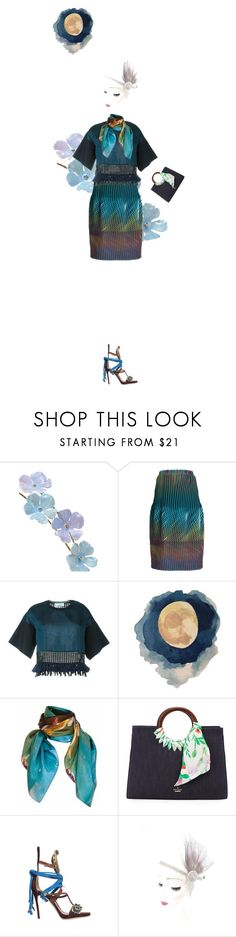 """""""Untitled #35"""" by yee-yan ❤ liked on Polyvore featuring Jennifer Behr, Issey Miyake, 3.1 Phillip Lim, Pam Weinstock London, Kate Spade and Dsquared2"""