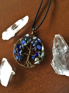 Wire Wrapped Tree Necklace Tree of Life by Evergreenbohemian