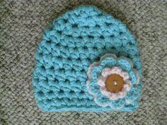 Crochet Chunky Newborn Beanie. $10.00, via Etsy.
