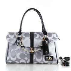 Coach Ring Chain Large Grey Satchels FBZ Give You The Best feeling!