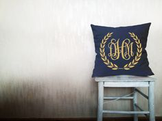 Decorative throw pillows monogram pillow cover monogrammed pillow Christmas pillow throw pillow monogrammed pillow cover 12x12 inches pillow by HomeLivingIdeas on Etsy https://www.etsy.com/listing/191234888/decorative-throw-pillows-monogram-pillow
