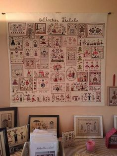 What a great idea! Everything Cross Stitch, Cross Stitch Love, Cross Stitch Finishing, Cross Stitch Samplers, Cross Stitch Charts, Cross Stitching, Cross Stitch Patterns, Blackwork Embroidery, Embroidery Sampler