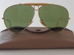 VINTAGE B L RAY BAN USA ELECTRIC GREEN G15 STREET NEAT WAYFARER ... 425193917031