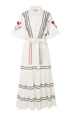 Get inspired and discover Temperley London trunkshow! Shop the latest Temperley London collection at Moda Operandi. Dress Outfits, Casual Dresses, Fashion Dresses, Pretty Dresses, Beautiful Dresses, Cute Fashion, Womens Fashion, Midi Shirt Dress, Cotton Shirt Dress