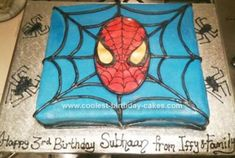 Homemade Spiderman Cake: This was a homemade Spiderman cake I made a customer. It was a single vanilla bean sponge. Made the vanilla cake and sandwiched it with a filling of fluffy