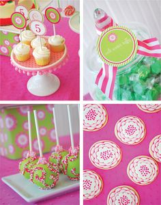 salt water taffy and adorable cake pops! southern inspired lilly theme