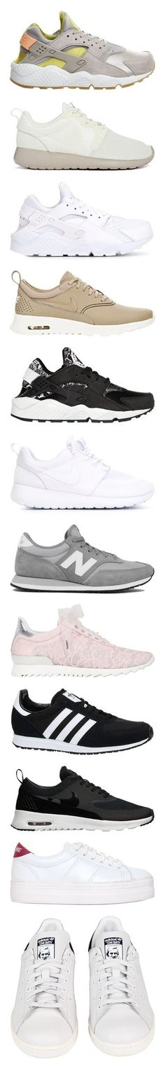 """""""What are you running from?"""" by isabella-scognamiglio ❤ liked on Polyvore featuring shoes, sneakers, nike, huaraches, multi, nike sneakers, waffle shoes, lace up sneakers, nike trainers and lace up shoes"""